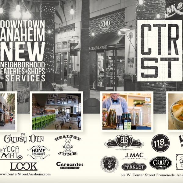 Double Truck ad placed in Orange Coast Magazine for CTR ST shops