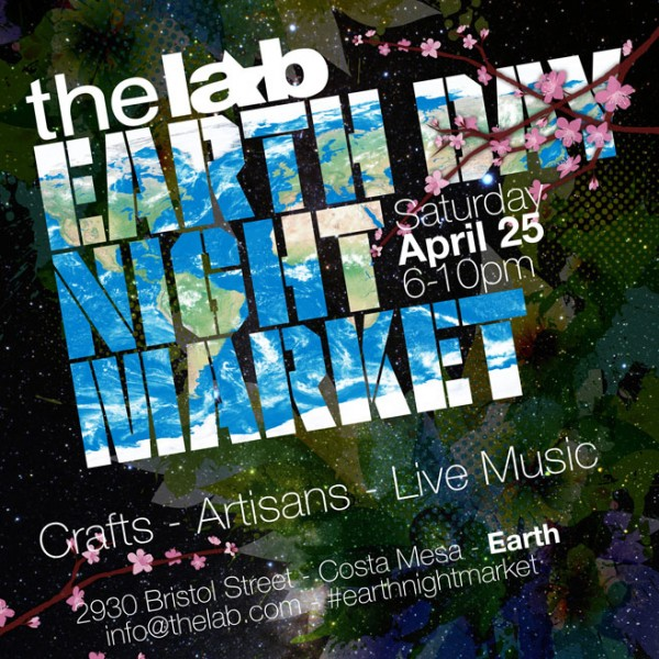 Earth Night Market Poster design at the Lab Anti-mall. Created using Photoshop and Illustrator.